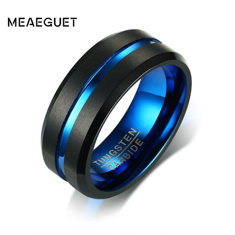 Meaeguet Black Tungsten Carbide Ring For Men & Women