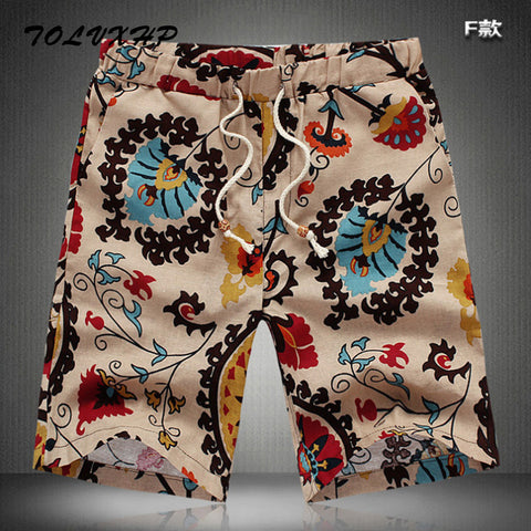 Casual Shorts Men, Summer Fashion Linen Breathable
