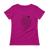 Ah-Puch Ladies' Scoopneck T-Shirt by Nicholas Arriaza