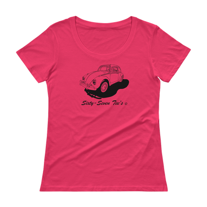 1967 VW Bug - Ladies' Scoopneck T-Shirt