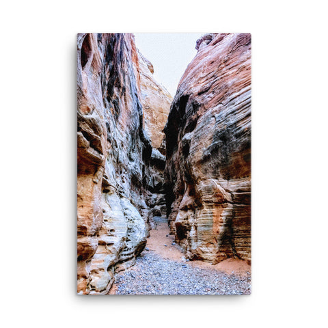 Pathway through the canyon Canvas
