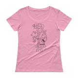 Ix Chel Ladies' Scoopneck T-Shirt by Nicholas Arriaza