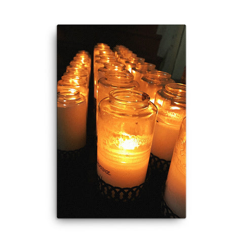 Prayer Candles Canvas