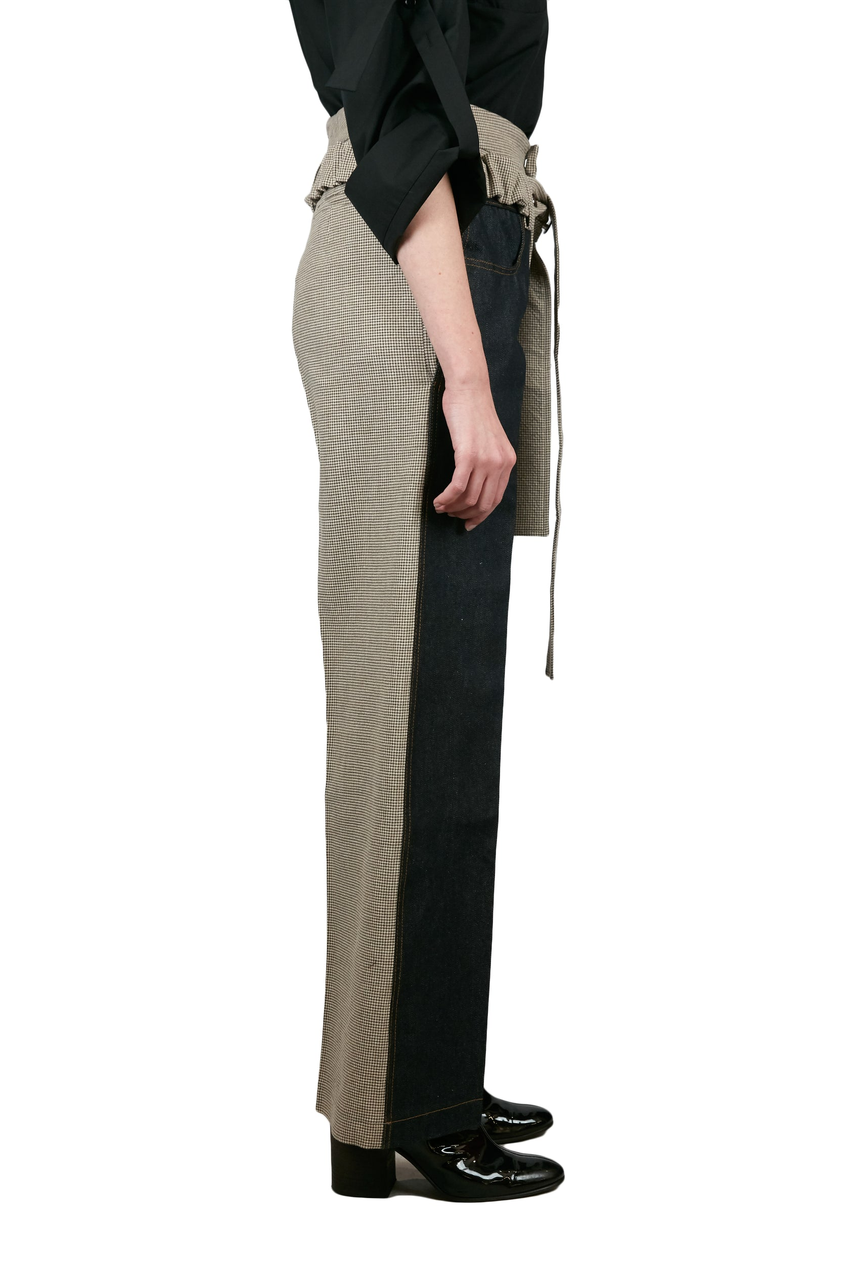 Wool and Denim Trousers with Belt TOP DELADA - NOLM - Clothes Online - nolmau.com - Sydney-Australia Online Shopping