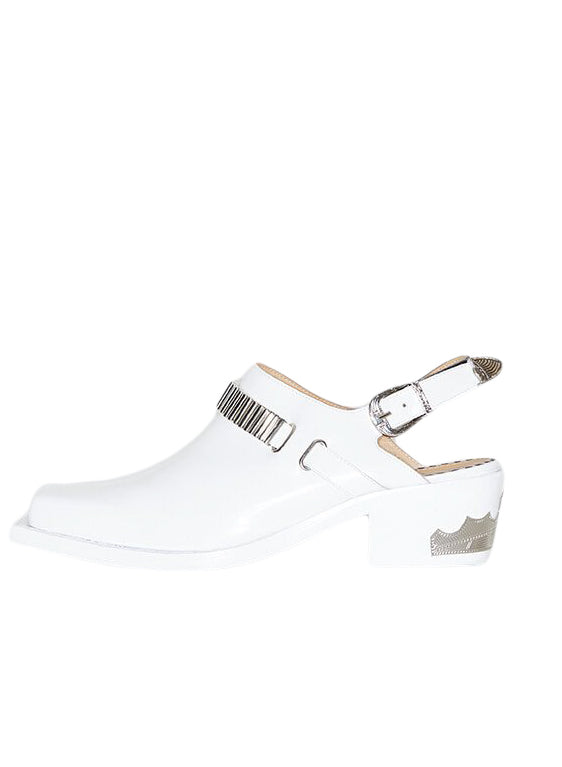 White Western Mules