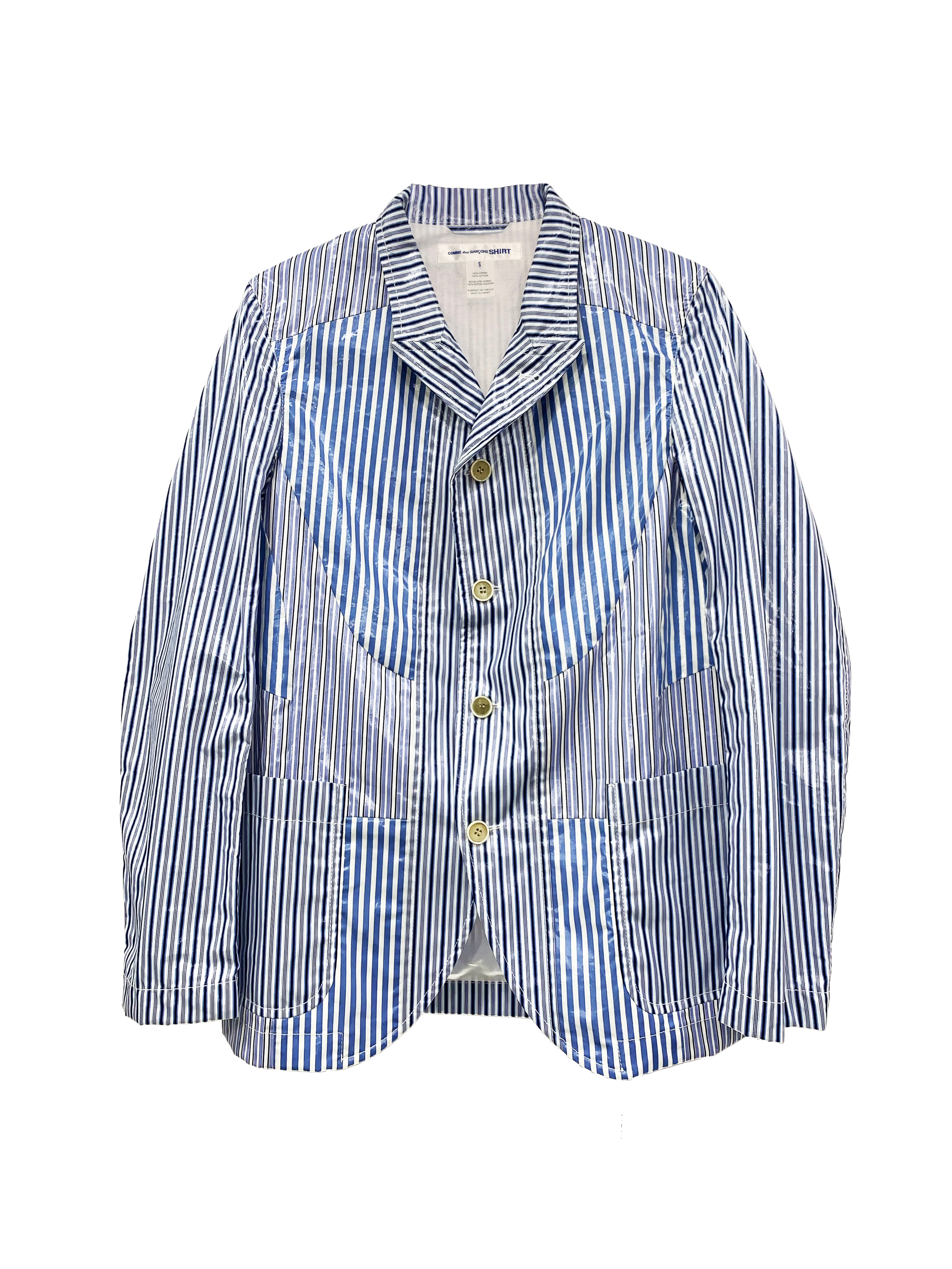Patch Stripe Blazer OUTER COMME DES GARÇONS SHIRT - NOLM - Clothes Online - nolmau.com - Sydney-Australia Online Shopping