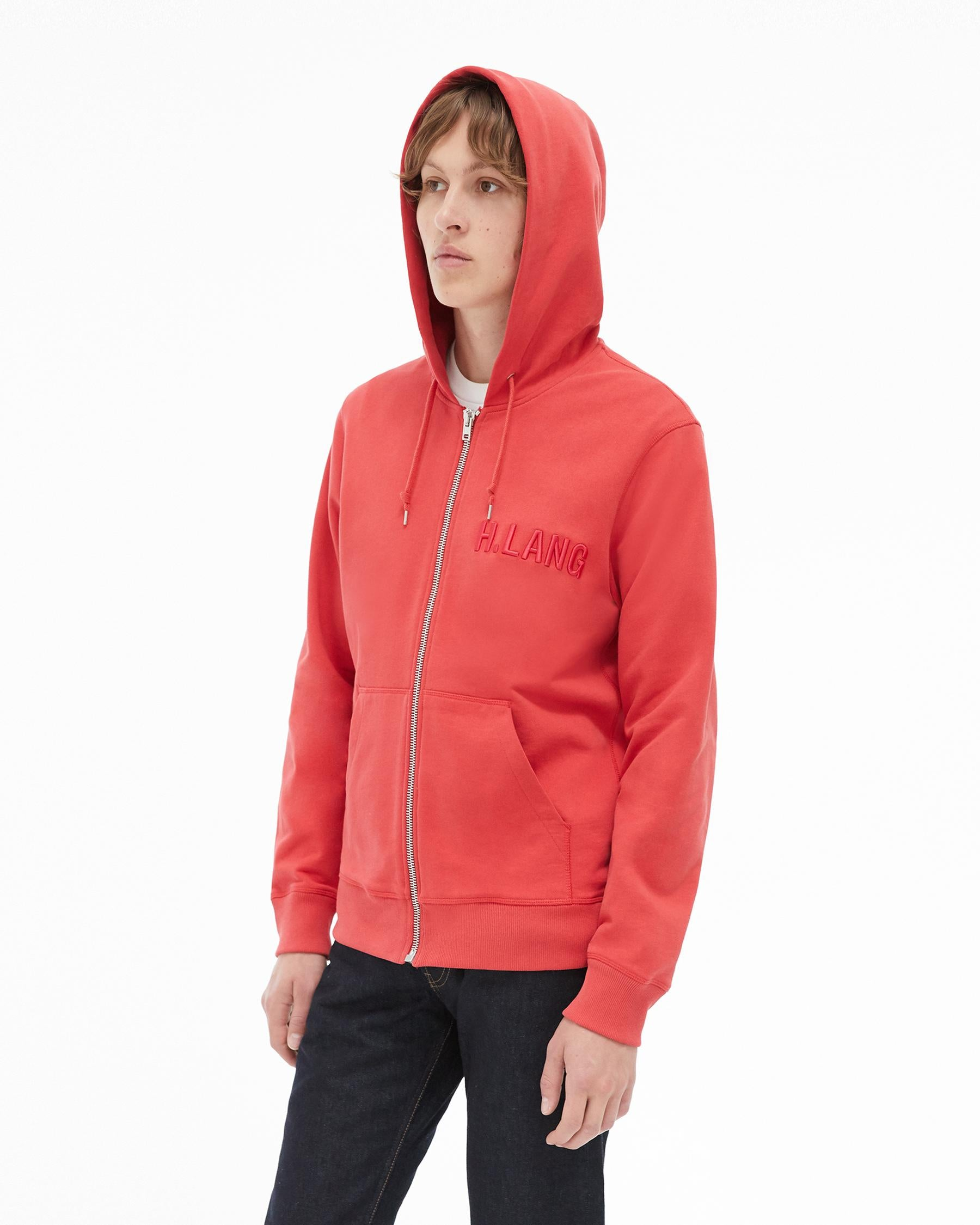 Standard Zipped Hoodie (Oxidised Red) OUTER HELMUT LANG - NOLM - Clothes Online - nolmau.com - Sydney-Australia Online Shopping