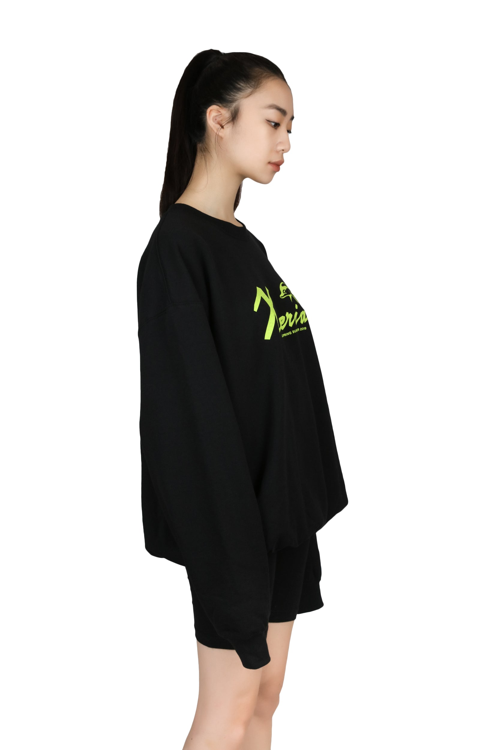 Sweater Xteria (Black/Green) TOP LĒO - NOLM - Clothes Online - nolmau.com - Sydney-Australia Online Shopping
