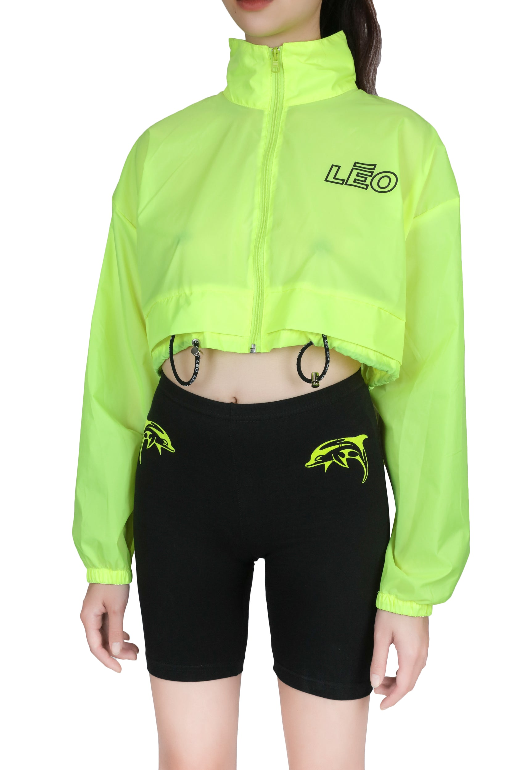 Windbreaker Cropped Jacket TOP LĒO - NOLM - Clothes Online - nolmau.com - Sydney-Australia Online Shopping