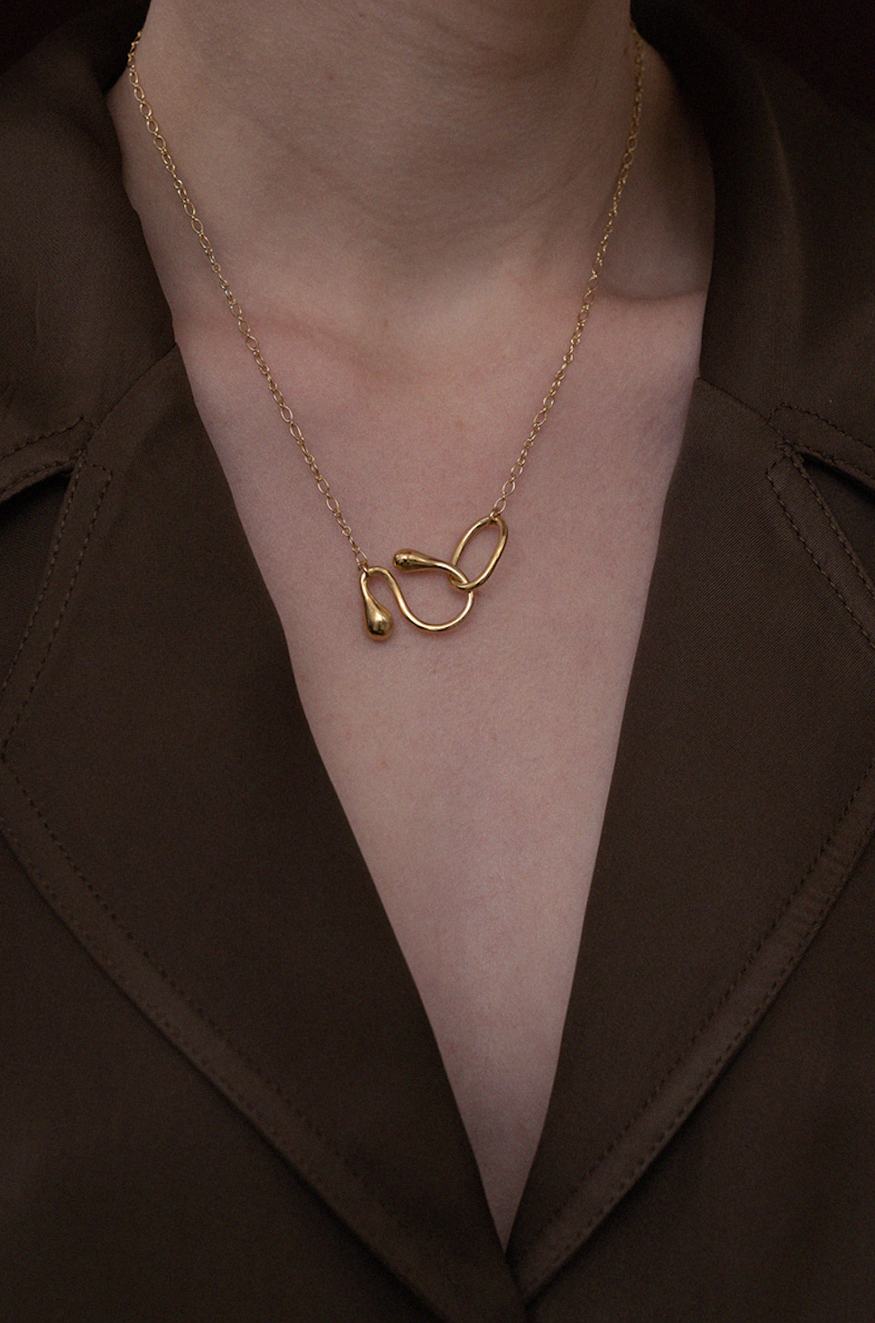 Loop Chain Necklace (Gold)