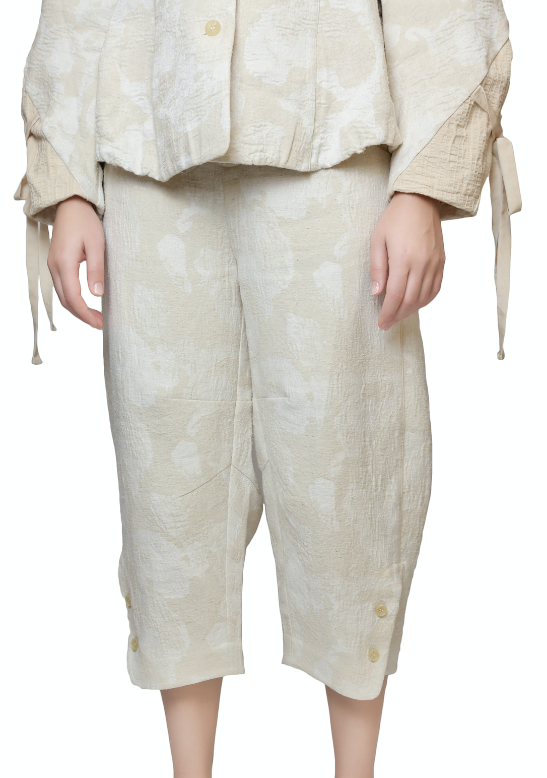 Cream Trousers Bottoms RENLI SU - NOLM - Clothes Online - nolmau.com - Sydney-Australia Online Shopping