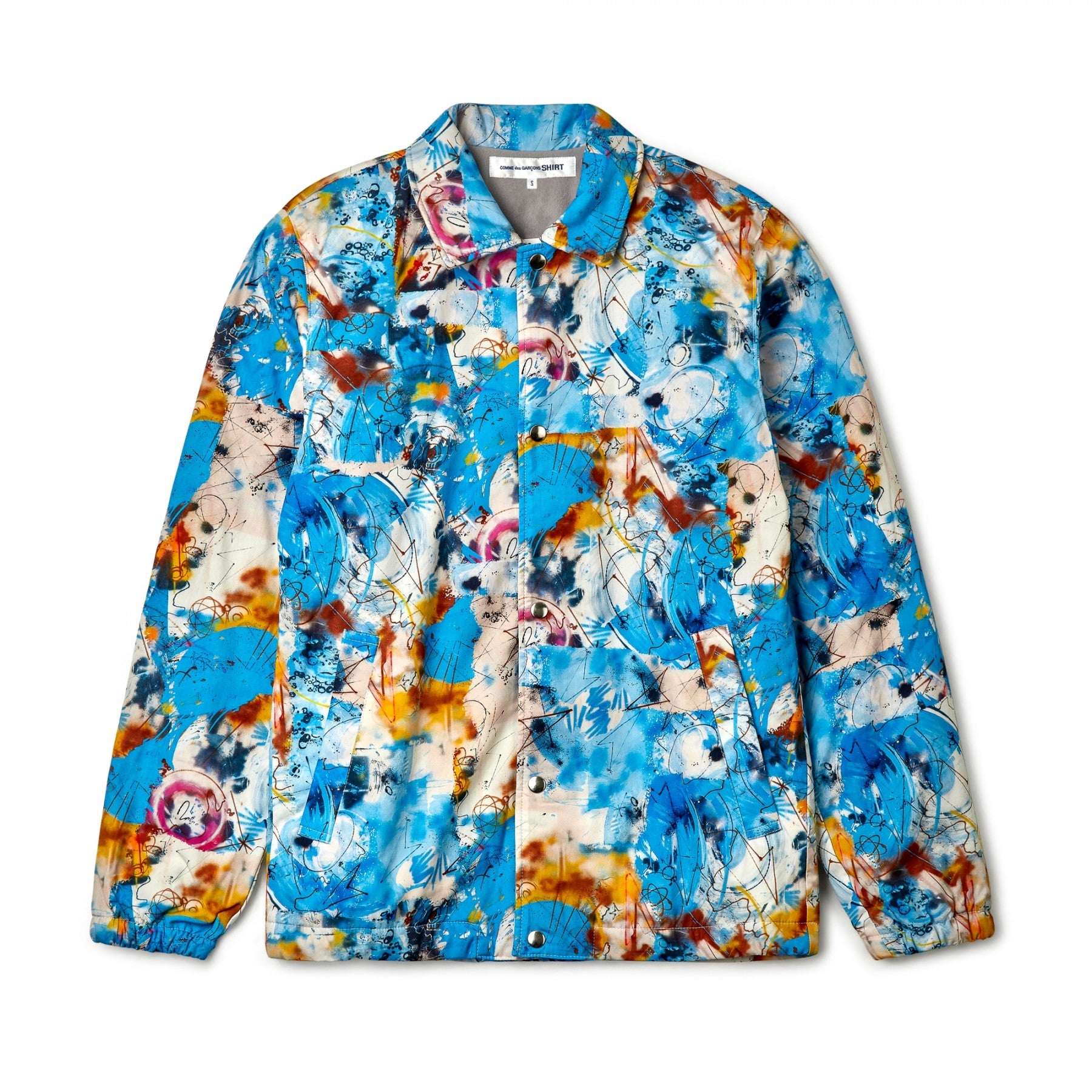 Blue CDG Shirt x Futura Coach Jacket