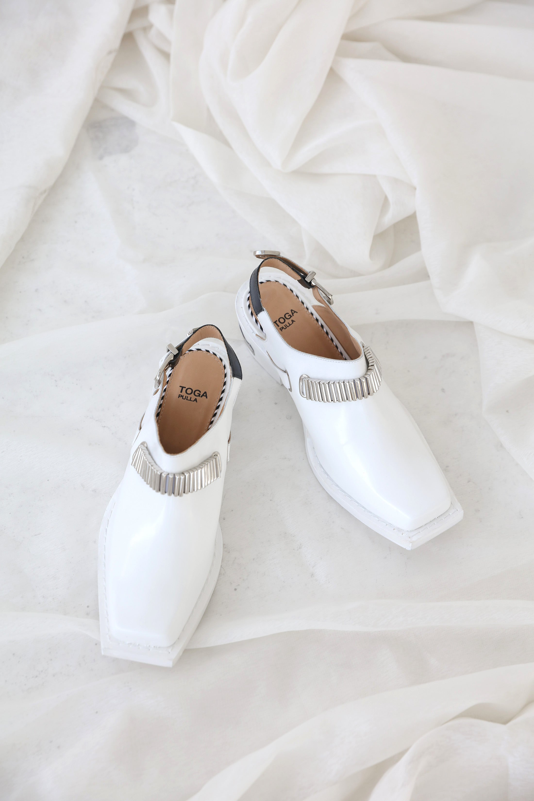 TOGA PULLA White Western Mules Shoes TOGA - NOLM - Clothes Online - nolmau.com - Sydney-Australia Online Shopping