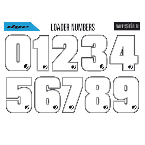Dye Loader Number Sticker Sheet