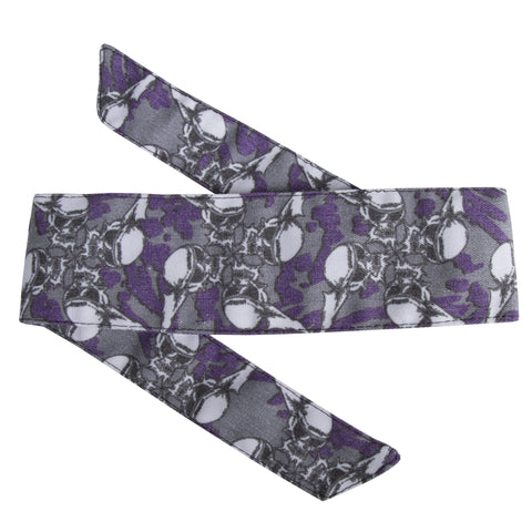 HK Army Vintage Hostilewear Headband Skulls purple