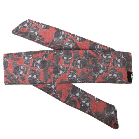 HK Army Vintage Hostilewear Headband Skulls red / black