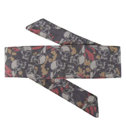 HK Army Vintage Hostilewear Headband Skulls tan / red