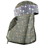 HK Army Hostilewear Headwrap - Purple Skulls / Forest Skulls Mesh