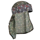 HK Army Hostilewear Headwrap - Red Tan Skulls / Forest Skulls Mesh