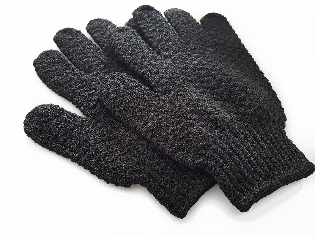 Exfoliating gloves - Charcoal