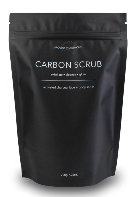 Activated charcoal face + body scrub