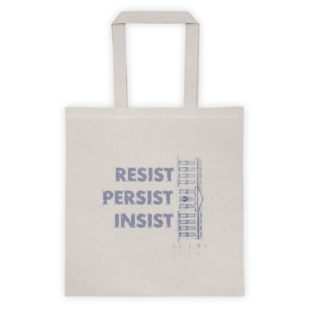 Totes this land is our land blueprint resist persist insist tote this land is our land tote bag malvernweather Gallery