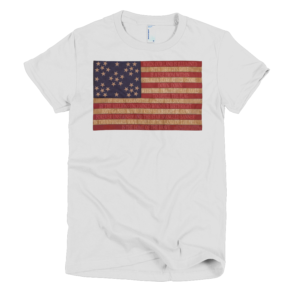 f75a724a Star Spangled Banner - Snowflakes Flag - Women's Tee