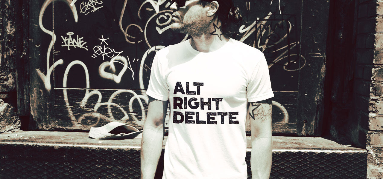 ALT RIGHT DELETE Men's Protest Tee Shirt