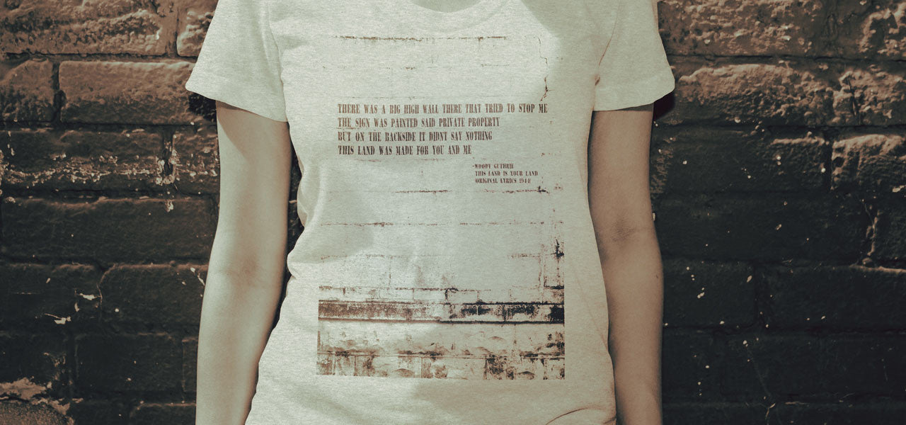 This Land is Your Land Women's Protest Tee Shirt