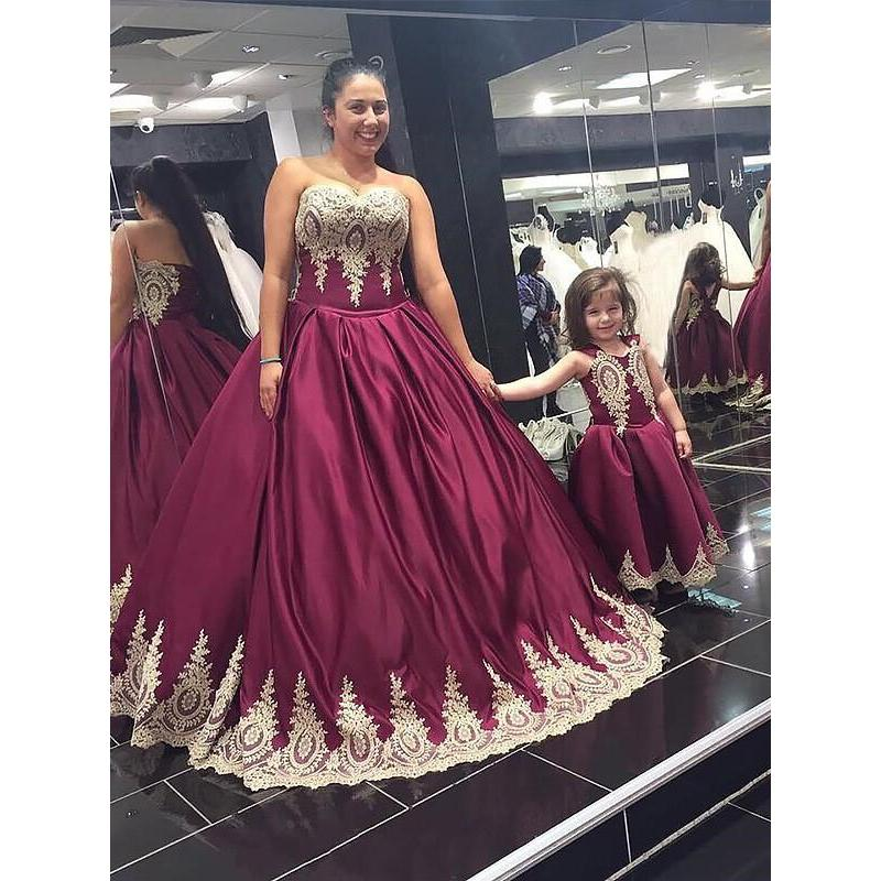 Burgundy Long Prom Dresses 2019 Ball Gown Plus Size – LoliPromDress.com