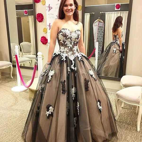52cf6b0759bc Long Junior Ball Gown Sweetheart Sleeveless Backless Appliques Prom Dresses  2019 Princess Open Back-2019 ...