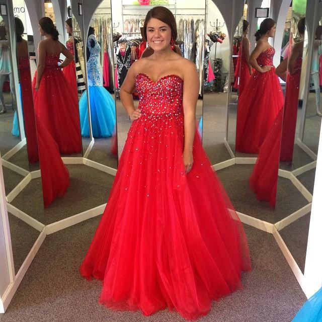 f916d892d8d Long Junior Red Ball Gown Sweetheart Sleeveless Beading Prom Dresses 2019  Sexy-2019-LoliPromDress