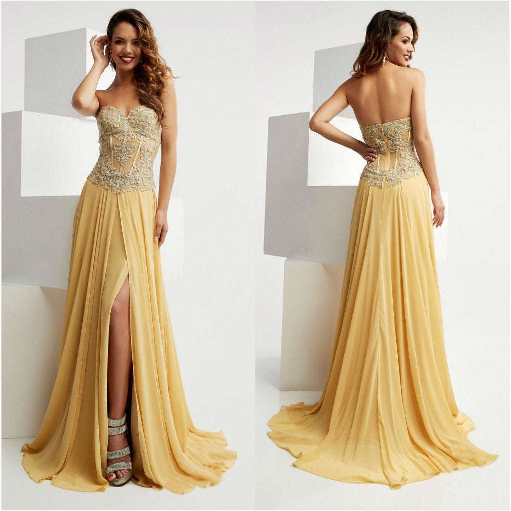 Long Prom Dresses 2019 A Line Sleeveless Chiffon Sexy For Short