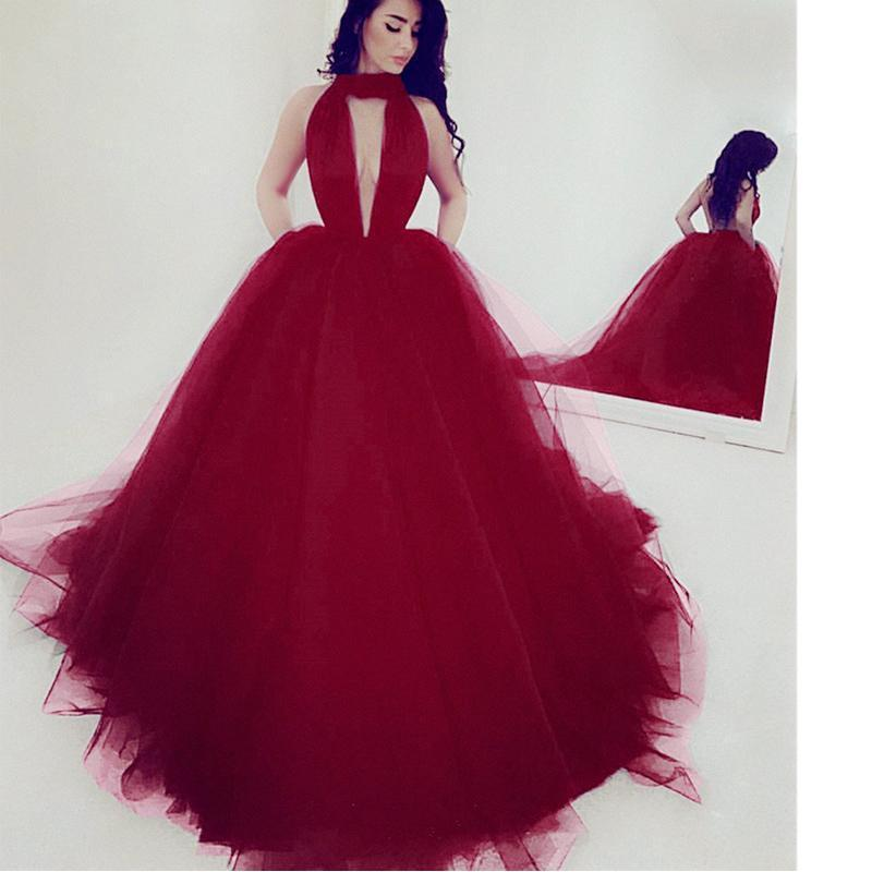 9eb155820a5 ... Long Sexy Black Ball Gown V-Neck Sleeveless Prom Dresses 2019-2019-LoliPromDress  ...