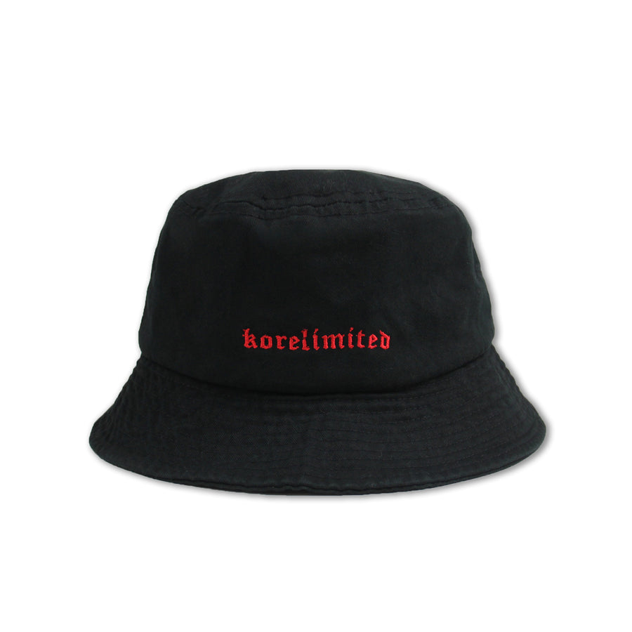 213 BUCKET HAT (BLACK)