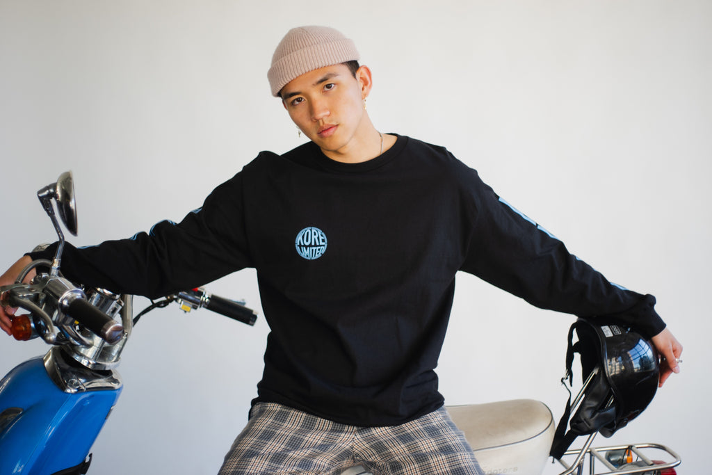 WAVEDYE LONG SLEEVE (BLACK)