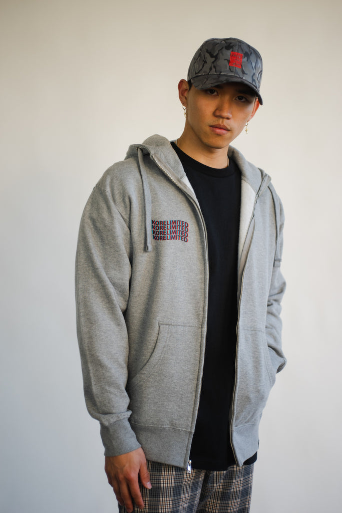 SOJU TIGER ZIP UP HOODIE (CARBON GREY)