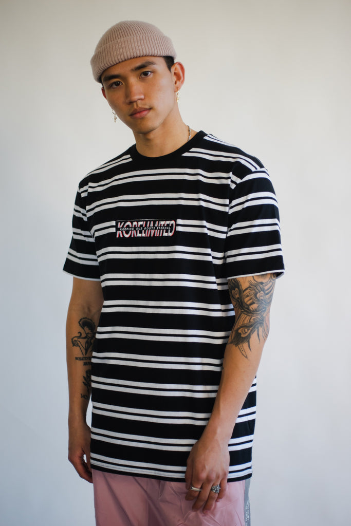 KOREBAR STRIPE TEE (BLACK/WHITE)