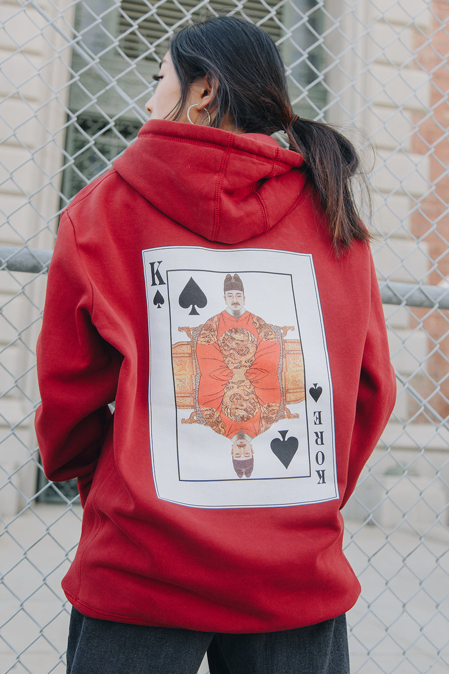 KING SEJONG HOODIE (ROYAL RED)