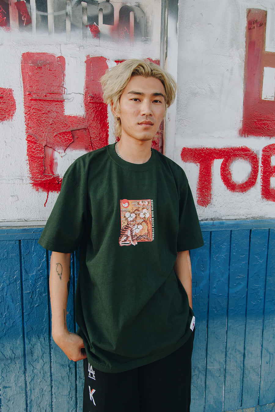 TIGER BOX TEE (GREEN)