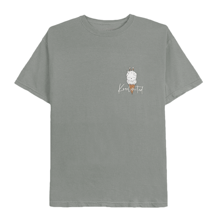 DOUBLE SCOOP TEE (LIGHT GREY)