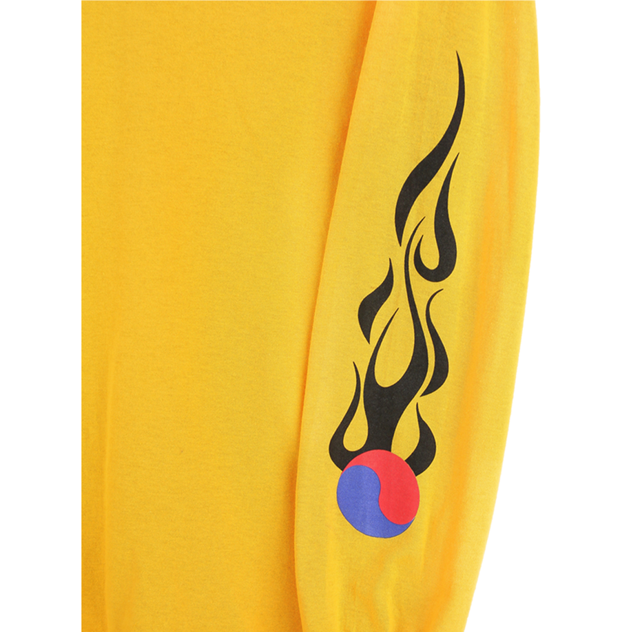 YINYANG FLAMES LONG SLEEVE (GOLD)