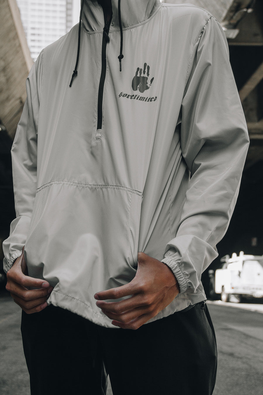 COREA 1900 PULLOVER WINDBREAKER (SMOKE)