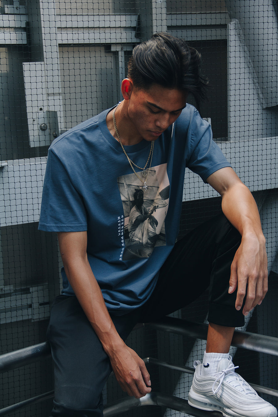 K.O.R.E. SAILOR TEE (PETROL BLUE)