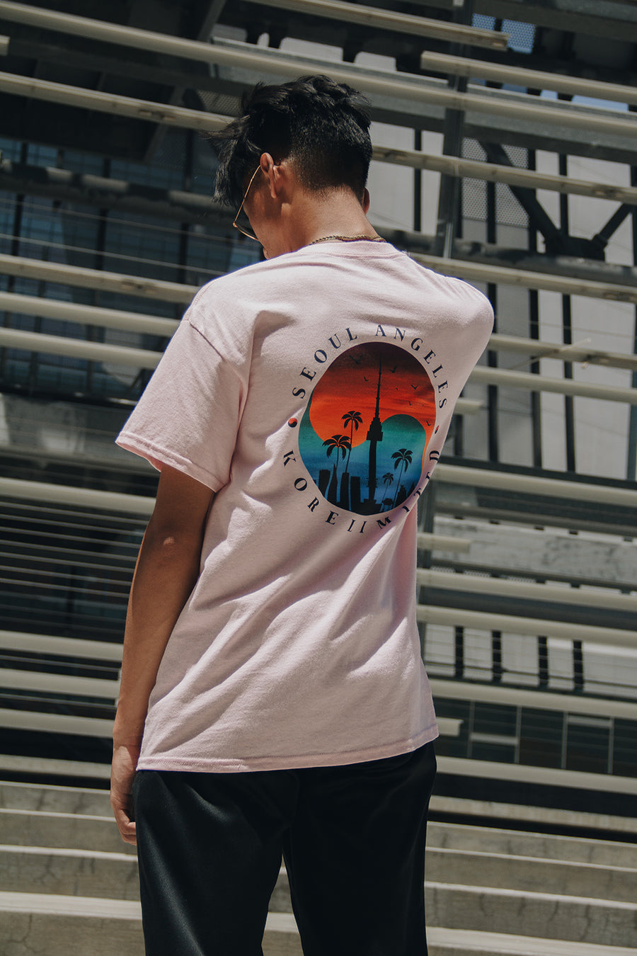 SEOUL ANGELES TEE (LIGHT PINK)