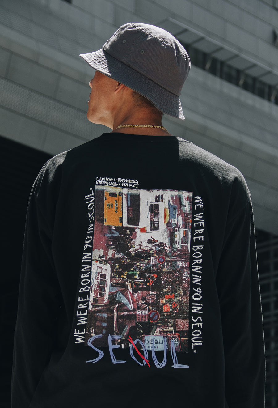 BORN IN 90 LONG SLEEVE (BLACK)