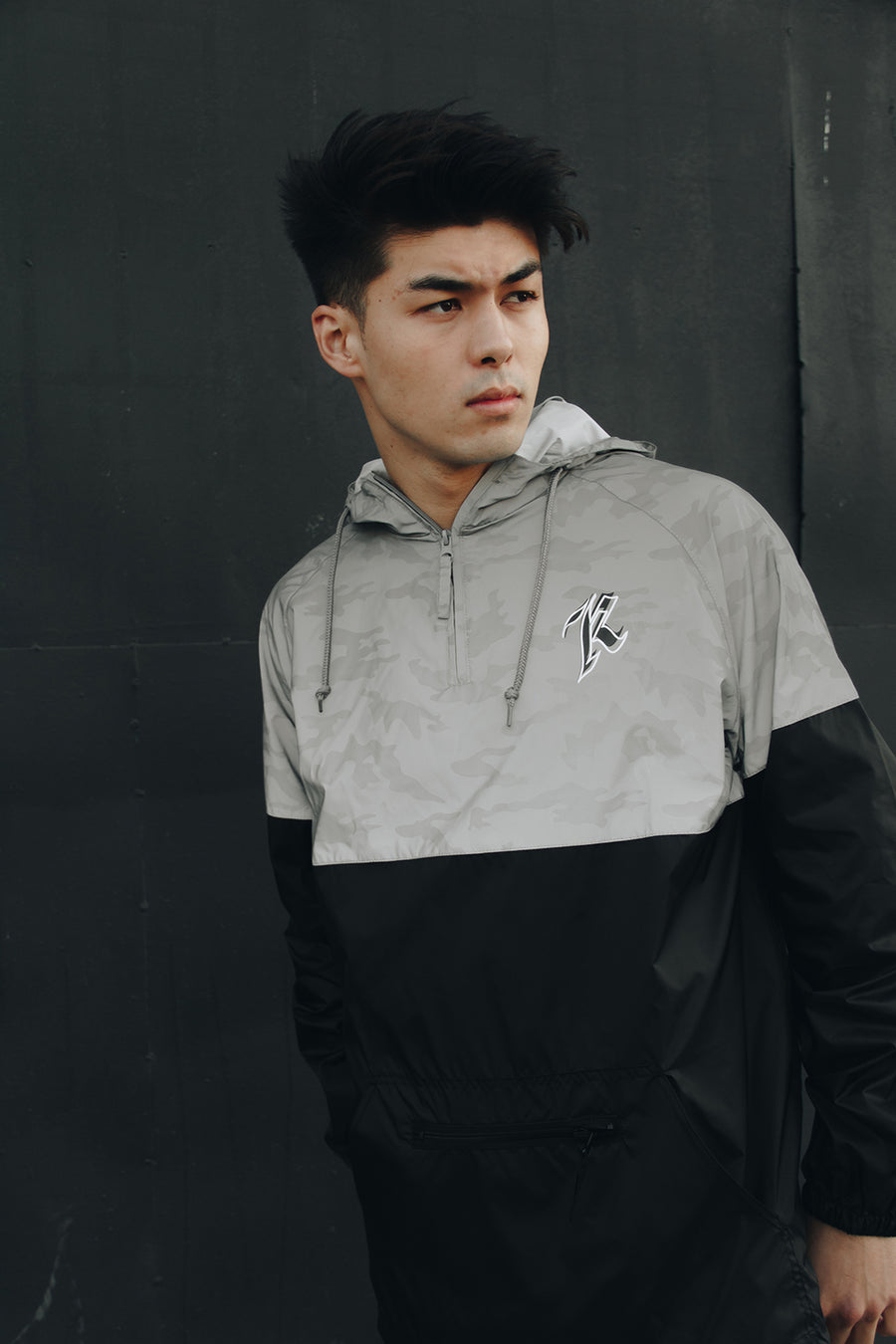 K REFLECTIVE WINDBREAKER (CAMO/BLACK)