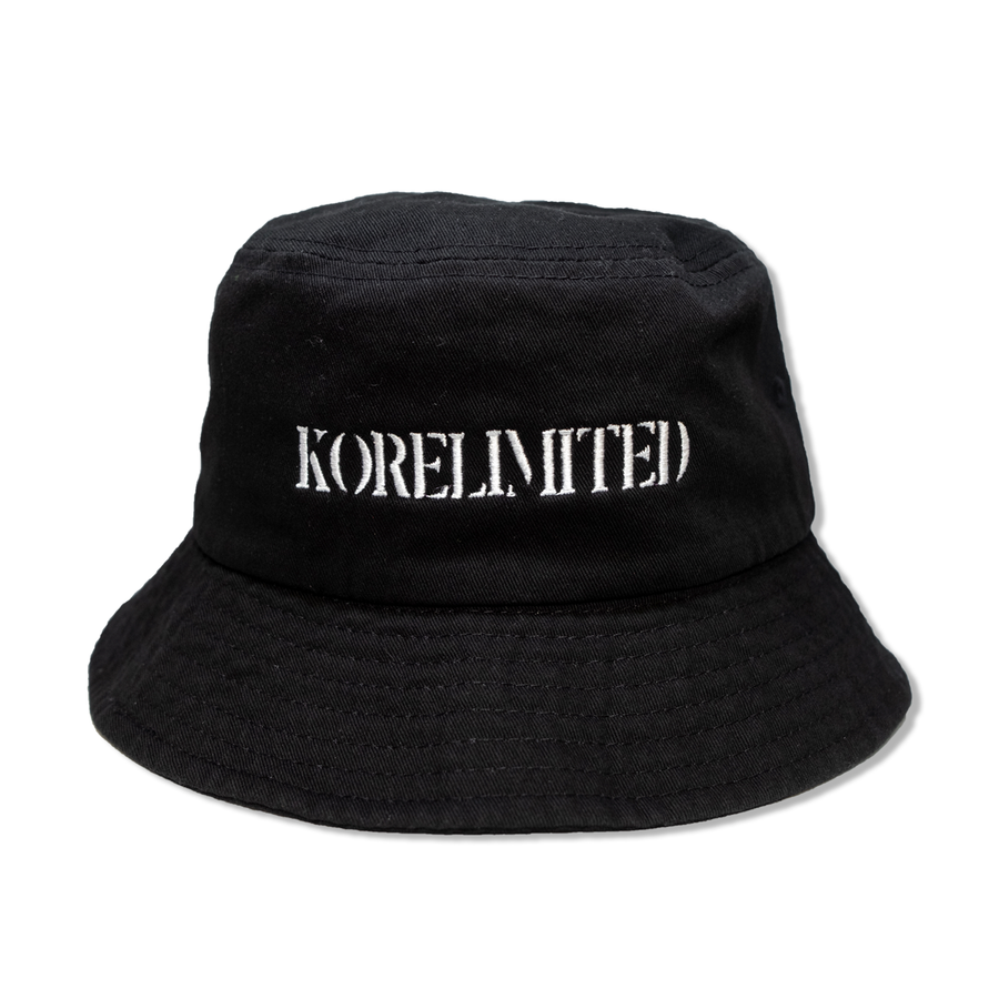 KORELIMITED STENCIL BUCKET HAT (BLACK)