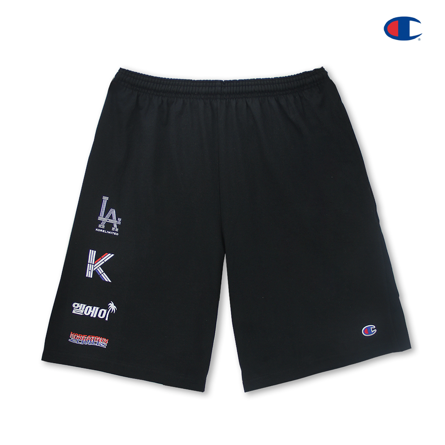LA KOREATOWN CHAMPION SHORTS (BLACK)