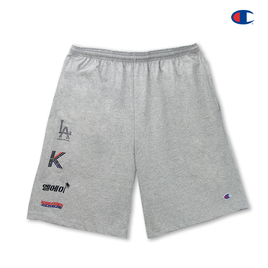 LA KOREATOWN CHAMPION SHORTS (HEATHER GREY)